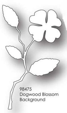 Memory Box - Die - Dogwood Blossom Background,$9.99