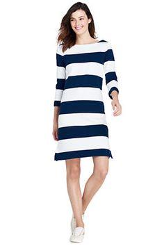 Women's 3/4 Sleeve Sailor T-Shirt Dress