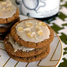 A Dark 'n Stormy Night, A Recipe For Ginger Molasses Cookies with Rum Glaze on http://bakingthegoods.com