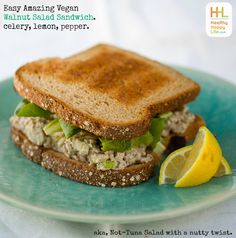 "One of my favorite go-to sandwiches is my chickpea ""tuna"" salad sandwich . Well…"