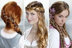 Wiesn Frisuren lange Haare 3 Ideen