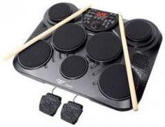 Music Instrument:Drum-Electronic Table Digital Drum Kit Top w/ 7 Pad Digital Drum Kit