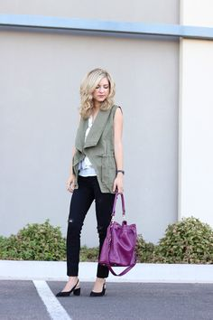 How to wear a utility vest | casual outfit