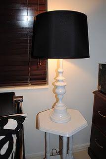 spray paint thrift store lamp - buy black shade