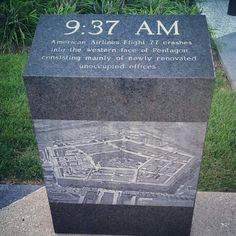 American Airlines Flight 77. I remeber this moment in time, I was having coffee outside with a friend after arriving to work. Then we heard and saw the plum of smoke... we were under attack.