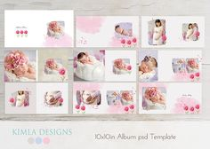 10x10in Album psd Template  Baby Baby psd template by KimlaDesigns, #photography #marketing #babyalbum