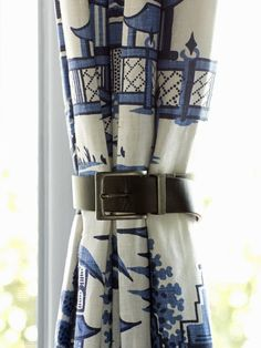 How to Use Leather Belts As Curtain Tiebacks  http://www.hgtv.com/handmade/how-to-use-leather-belts-as-curtain-tiebacks/index.html?soc=pinterest