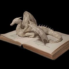 book sculpture Artist Emma Taylor Creates Sculpture from Pages of Books Folded Book Art, Paper Book, Book Folding, Paper Art, Cut Paper, Book Projects, Clay Projects, Original Art For Sale, Book Crafts