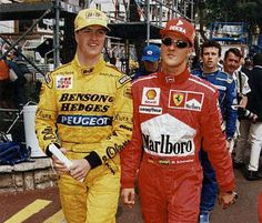 Ralf Schumacher with brother Michael