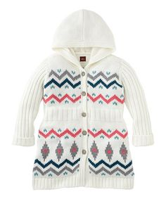 Look what I found on #zulily! Chalk Chevron Garmisch Hooded Cardigan - Toddler & Girls #zulilyfinds
