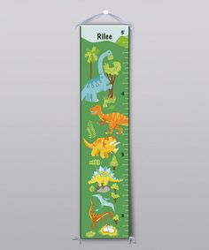 Take a look at this Dinosaur Personalized Growth Chart by BirdRow on #zulily today!