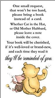 Classic Winnie the Pooh Baby Shower Book Request by DannisCuteCreations
