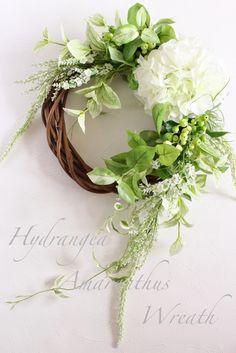 紫陽花 アマランサスリース ホワイト