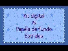 Kit Digital 15 papeis de fundo estrelas