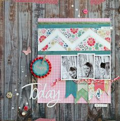 patterned paper flags are a great way to use up you scraps