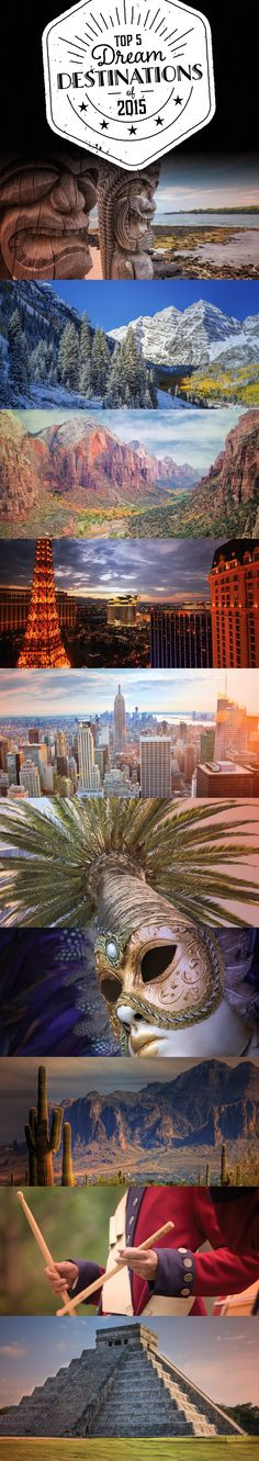Where would you love to travel to in 2015? Vote for your favorite Dream Destinations and enter for a chance to win. Official Rules & Entry: https://www.wyndhamvopromotions.com/fb/dd/?b=cw&s=pinterest