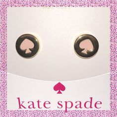TAKE 25% OFF Kate Spade Pink Spot the♠️ Earrings ✨  SPRING COLLECTION Kate Spade ♠️ Pink Spot the Spade Earrings NWTs • Includes dust bag • smoke free home • 20% donated to the American Cancer Society • IF INTERESTED LET ME KNOW & I WILL MAKE YOU A NEW LISTING AS I HAVE 2 • Thanks & Happy Poshing! ✨ kate spade Jewelry Earrings
