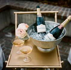 silver champagne bucket and trolley Champagne Bar, Champagne Buckets, Champagne Glasses, Champagne Toast, Champagne Saucers, Wedding Champagne, Vintage Champagne, Drinks Wedding, Champagne Breakfast