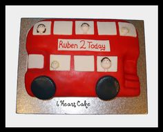 This was for a little boy that loves red buses - apparently you had to ask his permission before eating any of his cake - bless! Celebration Cakes, Birthday Celebration, Bus Cake, 3rd Birthday, Birthday Cakes, Birthday Ideas, Big Red Bus, Rich Cake, Novelty Cakes