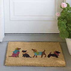 Uptown Dog Coir Doormat | The Company Store