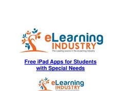 List of 78 Free iPad Apps for Students with Special Needs from e-Learning Industry. The apps are listed in a SlideShare presentation. E Learning, Blended Learning, Educational Websites, Educational Technology, Assistive Technology, Instructional Technology, App Ipad, Autism Apps, Special Needs Students
