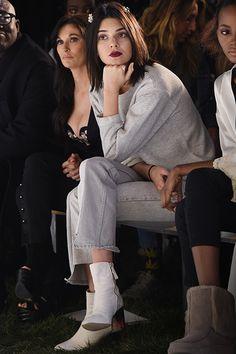 Kendall Jenner Wears White Ankle Boot by KG Kurt Geiger | Kurt Geiger