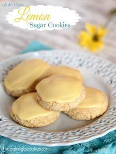 Gluten Free Lemon Sugar Cookies from The Baking Beauties