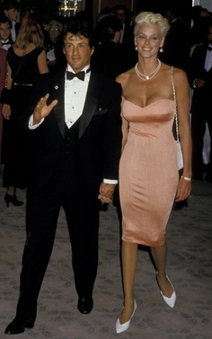 Brigitte Nielson and Sylvester Stallone