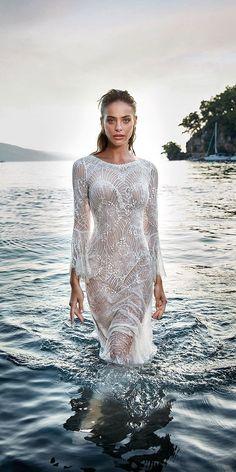 30 Wedding Dresses 2019 — Trends & Top Designers ❤️ wedding dresses 2019 sheath with long sleeves lace beach eddy k ❤️ Full gallery: https://weddingdressesguide.com/wedding-dresses-2019/ #bridalgown #weddingdresses2019 #wedding #bride