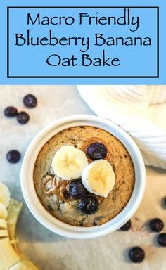 This Blueberry Banana Oat Bake is a perfect breakfast, pre or post workout meals, or if you're having a sweet craving and want something healthier. #oatbake #blueberries #banana #macrofriendlyrecipes #healthysnacks #healthyeating Workout Meals, Workout Meal Plan, Post Workout Food, Clean Eating Recipes, Healthy Eating, Healthy Desserts, Healthy Recipes, Healthy Habbits, Macro Friendly Recipes