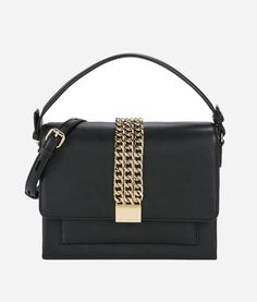 e761584a80 KARL K Chain Closure Crossbody - BLACK.  karl  bags  shoulder bags  hand  bags  leather  crossbody