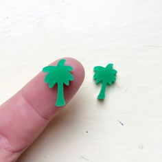One Pair Mini Palm Trees Laser Cut Earring Supplies Mini Palm Tree, Palm Trees, Acrylic Shapes, Tree Shapes, Palm Springs, Laser Cutting, Color Show, Stud Earrings, Etsy