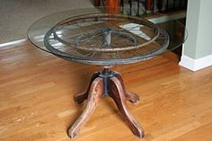 Cool table from found objects.