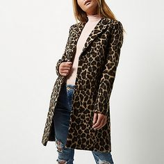 Find the best winter coat courtesy of our top-notch edit of trends and key buys… Leopard Coat, Brown Leopard, Wool Overcoat, Best Winter Coats, Office Ladies, New Outfits, Duster Coat, Ideias Fashion, Blazer