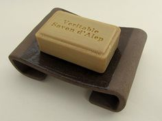 """Soap dish """"long chair"""". """"Bitter sweet"""" series (brown clay, transparent glaze)…"""