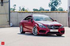 Mercedes Benz, Mercedes E Class Coupe, Mercedes Sport, Car Wheels, Vossen Wheels, Benz E Class, Mazda 6, Motor Car, Luxury Cars