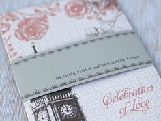 Oh So Beautiful Paper: Deanna + Ben's London Skyline Wedding Invitations