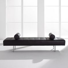 Neinkamper - Pullman Bench with bolster upholstered in leather
