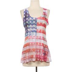 American Flag Tank Top Shirt T-Shirt Size S M L XL