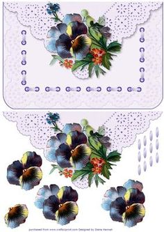 Pansy Fancy Faux Envelope on Craftsuprint - Add To Basket!