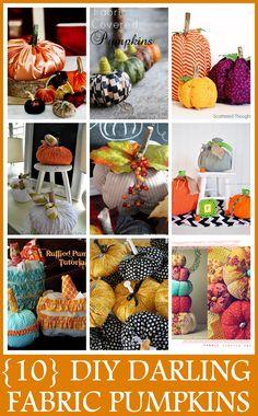 10 DIY Fabric Pumpkin Designs - Craft-O-Maniac