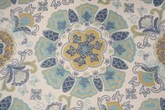 Medallion Upholstery :: Argunov in Aqua Tapestry Upholstery Fabric by Mill Creek. Just bought yardage for living room, so I guess this is my color palette.