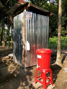 Pour-flush latrine and handwashing station in rural Bangladesh. Submitted by ICDDR, B.