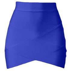 Blue Cross Bandage Sexy Chic Ladies Mini Skirt ($10) ❤ liked on Polyvore featuring skirts, mini skirts, bottoms, faldas, gonne, blue, sexy mini skirt, short skirts, sexy miniskirts and blue bandage skirt