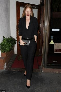 Rosie Huntington-Whiteley wows in plunging jumpsuit | Daily Mail Online