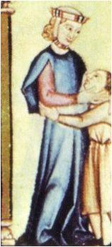 - OPUS INCERTUM -: 4.SOBRETODO H. 1280-1285. Cantigas de Santa María de Alfonso X el Sabio, Biblioteca de San Lorenzo de El Escorial, Madrid (detalle)