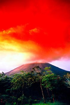 Arenal Volcano (Volcan Arenal) erupting, Arenal, Costa Rica; photo by Blaine Harrington