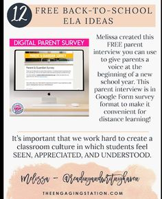 12 Free Back-to-School ELA Ideas - The Engaging Station