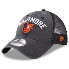 huge discount 1b6a5 55432 Men s Baltimore Orioles New Era Black Rugged Team 9TWENTY Snapback  Adjustable Hat, Your Price