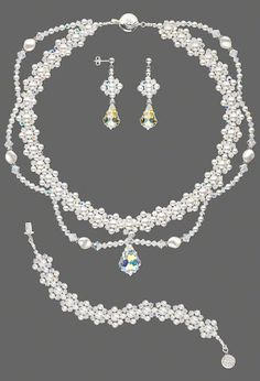 Snowflake sequence jewelry set
